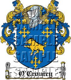 O'Crouley Family Crest apparel, O'Crouley Coat of Arms gifts