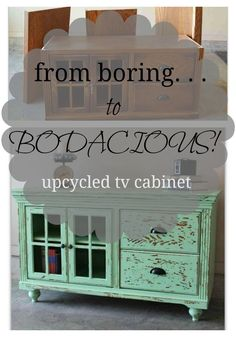 Channel your inner DIY'er and upcycle that old tv cabinet from boring to farmhouse bodacious!