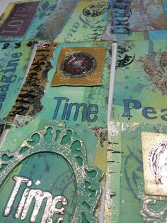 ATC's with Therm-o-web mixed media products - blog post for #mixedupmag by Erica Evans