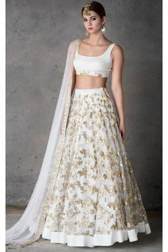 indian designer wear The Stylish And Elegant Lehenga Choli In White Colour Looks Stunning And Gorgeous With Trendy And Fashionable Cotton Silk Net Fabric Looks Extremely Attractiv Indian Bridal Sarees, Indian Lehenga, Indian Bridal Wear, Indian Wedding Outfits, Pakistani Dresses, Lehenga Choli, Indian Dresses, Indian Outfits, Indian Clothes