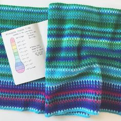 """My mom was talking to me about my temperature blanket last night so I was explaining it to her and as I handed it to her she exclaimed """"oh… Crochet Slippers, Crochet Yarn, Crochet Hooks, Crochet Blankets, Crochet Afghans, Beach Crochet, Loom Knitting, Knitting Patterns, Crochet Patterns"""