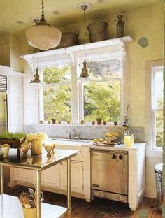 old house white kitchen with marble backsplash, Atticmag