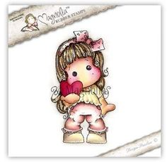 """Magnolia Stamps A Lovely Christmas """"Christmas Heart Tilda"""" Rubber Stamp *NEW*"""