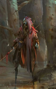 ArtStation - a piece of shaman sketches, Lexey Anikin