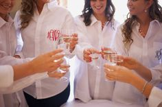 Monogrammed Bridal Party shirts  Photo By TellChronicles