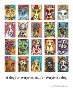 http://www.theslumberingherd.com/art-card-dogs-project/ Art Card Dogs Project So I had this idea, because I love dogs and I love collections of things, to do a poster with 30 of my art card dogs, which I've been enjoying very much lately! I'm also planning to add either a booklet with short stories, or some other supplementary type material to go with the poster (by... artist)