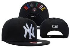 b05feb27032 MLB New York Yankees Adjustable Snapback Hat in Black with White Logo on  sale for Cheap