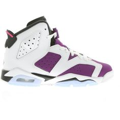 Nike Air Jordan VI Retro ($125) ❤ liked on Polyvore featuring shoes, jordans, sneakers and nike
