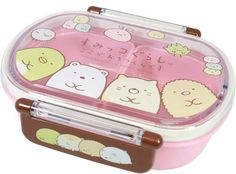 SUMIKKO GURASHI Tight Bento Box $16.50 http://thingsfromjapan.net/sumikko-gurashi-tight-bento-box/ #sumikko gurashi #san x #bento box #cute lunch box #kawaii bento box
