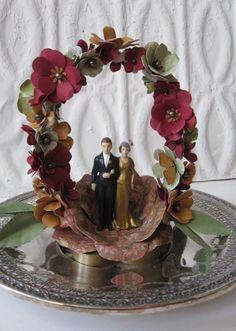 Blooming Flower Wedding Cake Topper by carrieklein on Etsy, $325.00