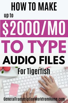 Tigerfish Transcribing does NOT require previous transcription experience and accepts beginners for general and legal transcription work from home. This is a good transcription company to work for. Transcription work includes interviews, law enforcement and documentaries focus groups. They pay by words transcribed - not by audio time. Read My Tigerfish Transcribing Review. Great for WAHMs & SAHMs.