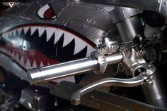 pinterest.com/fra411 #motorbike - throttle detail - RocketGarage Cafe Racer: Barracuda