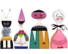wooden dolls by alexander girard, 1963