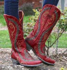 Old Gringo Snake Red Boots Image Cowgirl Boots For Kids, Red Cowgirl Boots, Red Boots, Western Boots, Western Outfits, Western Wear, Boot City, Snake Boots, Old Gringo Boots
