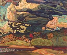 Macdonald The Elements, Canadian Group of Seven Group Of Seven Artists, Group Of Seven Paintings, Canadian Painters, Canadian Artists, Landscape Art, Landscape Paintings, Contemporary Landscape, Emily Carr Paintings, Tom Thomson Paintings
