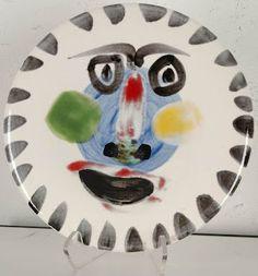 PICASSO, Pablo, 1881-1973. Face no. 202, 1963. Ceramic plate
