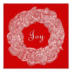 White Christmas Wreath Announcement