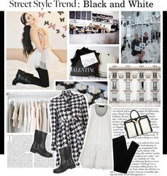 """Trend Report: Black and White."" by the-importance-of-being ❤ liked on Polyvore"