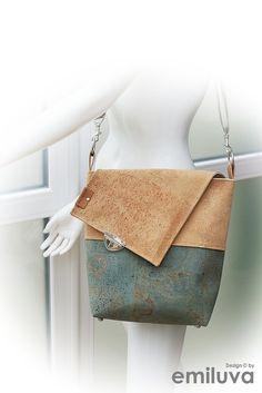 Vegan & wunderschön! Eine Margo von emiluva Design in warmen Farbtönen im coolen neuem Korkleder. 100 % tierfrei! Bag Making, Shoulder Bag, Vegan, How To Make, Bags, Design, Fashion, Colors, Leather