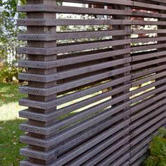 A modern take on the privacy fence.