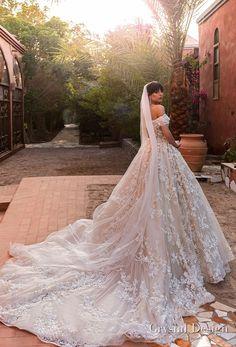 crystal design 2018 off the shoulder sweetheart neckline full embellishment princess ball gown wedding dress royal train (magenta) bv -- Crystal Design 2018 Wedding Dresses