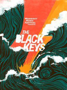 """The Black Keys """"Hangout Music Festival"""" Poster on Behance"""