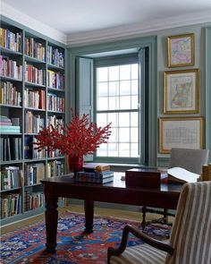 Trim and proper. {Peter Spears & Brian Swardstrom, by @BjornWallander via @elledecor} #officeinspiration