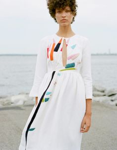 Mara Hoffman embroidered midi dress for spring