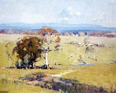 Pastoral Vista William Dunn Knox (1880-1945) Australia