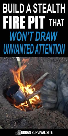 While you can't stop the smell, smoke, and light of an open fire completely, it's possible to minimize it by digging a Dakota fire hole. survival hacks Build a Stealth Fire Pit That Won't Draw Unwanted Attention Survival Life Hacks, Survival Food, Camping Survival, Outdoor Survival, Survival Prepping, Survival Skills, Survival Quotes, Survival Supplies, Camping Tips