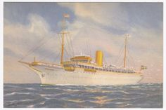 Stella Polaris Clipper Line Colored Ship Postcard