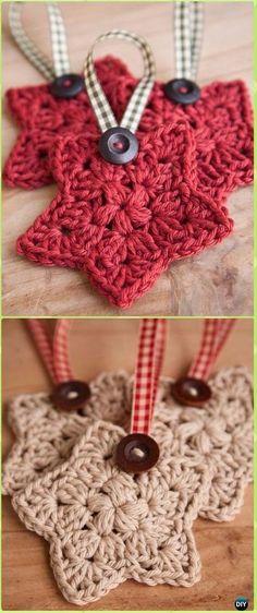 Crochet Star Ornament Free Pattern - Crochet Christmas Ornament Free Patterns
