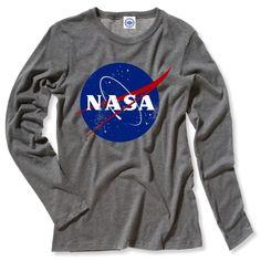 Hank Player 'Official NASA Logo' Women's Long Sleeve T-Shirt: Amazon.ca: Clothing & Accessories