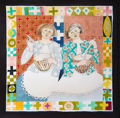 MixedUP by cate edwards, via Flickr -- in love with her work, wonder if she sells it?