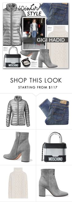 """GIGI HADID"" by nanawidia ❤ liked on Polyvore featuring Denim & Supply by Ralph Lauren, Gianvito Rossi and Moschino"