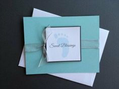 Sweet Blessings Baby Boy Silver Ribbon Polka by sincerelyyours123, Pack of 6 $16.50 #newbabyboy #sweetblessings #babyshower