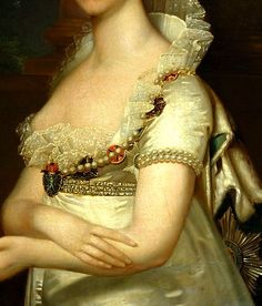 "Portrait of Elizaveta, Wife of Tsar Alexander I"" (1807) (detail) by Jean-Laurent Mosnier (1743-1808)."