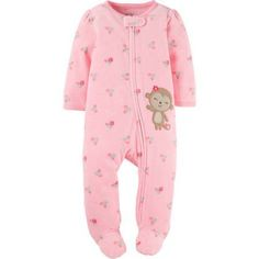 Child of Mine by Carter's Newborn Baby Girl Microfleece Sleep N Play, Size: 0 - 3 Months, Pink Cute Baby Girl Outfits, Toddler Outfits, Kids Outfits, Baby Girl Pajamas, Baby Girl Newborn, Baby Sleepers, Baby Girl Names, Baby Girls, Newborn Outfits