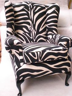 Victorian style chair by Ralvern made using a Warwick Fabrics Zebra