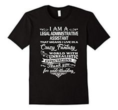 Amazon.com: Crazy Fantasy World With Administrative Assistant TShirt Tee: Clothing