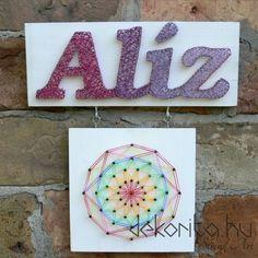 Name board string art with mandala
