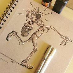 The Art of Bhairavi Kulkarni #inktober #zombie #sketch #characterdesign
