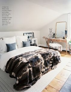 there's something about a faux fur throw