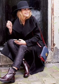 lookbook Pantalon Cigarette, Inspiration Mode, Elegant Outfit, Winter Outfits, Leather Jacket, Peignoir, Casual, Jackets, Bordeaux