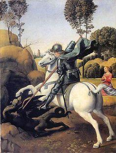 Rafael - Święty Jerzy Zabijający Smoka (1504)
