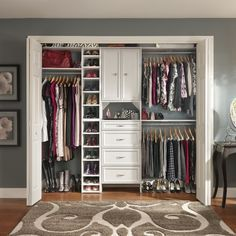 Believe it or not, I've had a few rooms in San Francisco with no closets. Now that I have a decent-sized closet, I make sure to maximize that space--and you should do the same. Hanging shoe racks, though precarious, save floor space for lesser-used items
