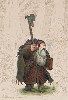 Dwarf bookseeker, Emil Jensen on ArtStation at https://www.artstation.com/artwork/XPoBn