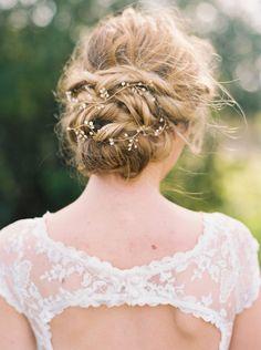 accessoire pour cheveux de mariée et vigne pour coiffure bohème chic