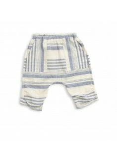 NOCH MINI Organic Summer Crop Pant / Blue Stripe