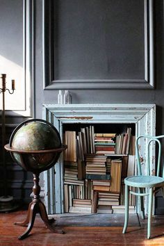 Books On Fire - 15 Alternative Ways To Show Off Your Library - Photos